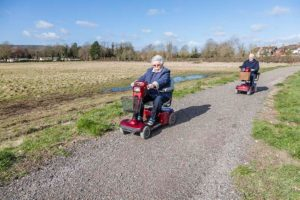 Mobility scooters on Walk For All Steyning