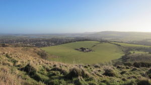 View of Steyning & area from top of South Downs