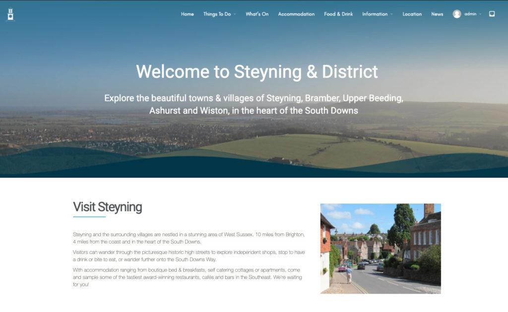 Visit Steyning Website Screenshot