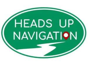 Heads up navigation logo